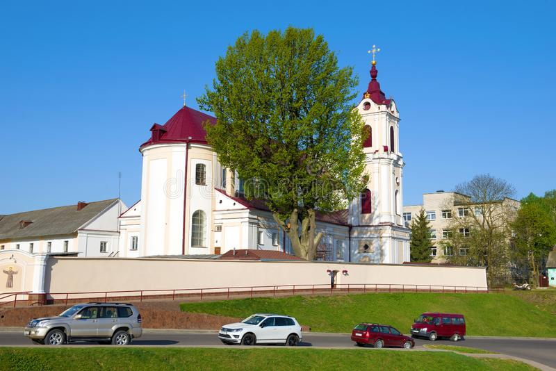 Katholieke kerk van St Mary van Engelen Wit-Rusland, Grodno stock fotografie