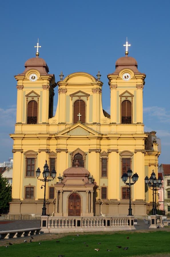 Katholieke Koepel - Timisoara, Roemenië stock foto's