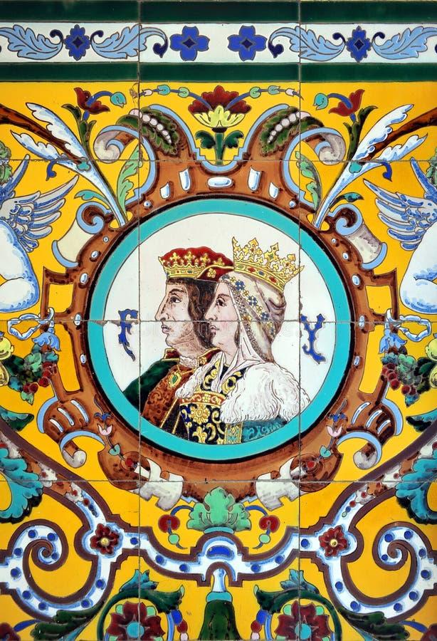Katholieke Monarchen, Ferdinand en Isabella, Spanje stock fotografie