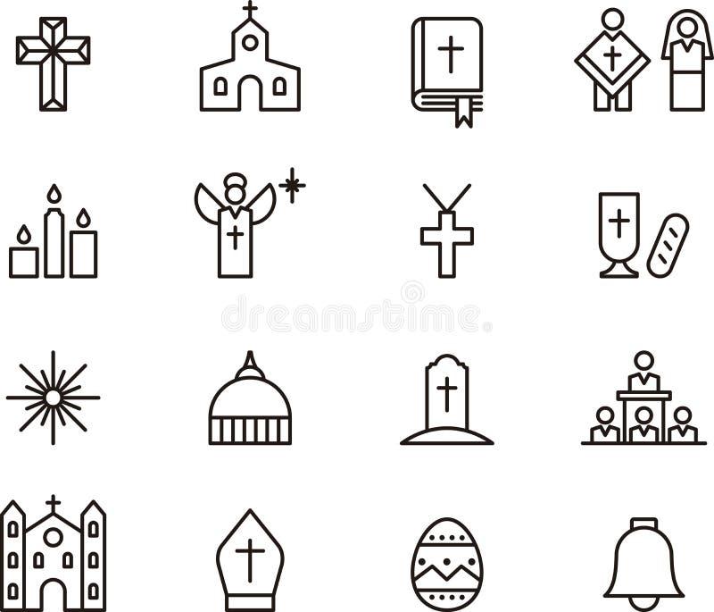 Katholieke pictogrammen stock illustratie