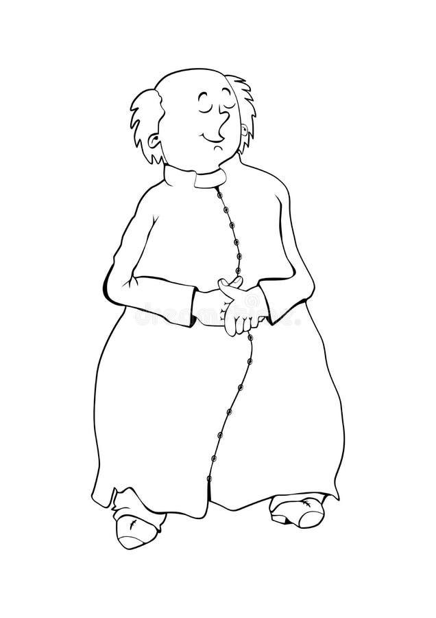 Katholieke priester vector illustratie