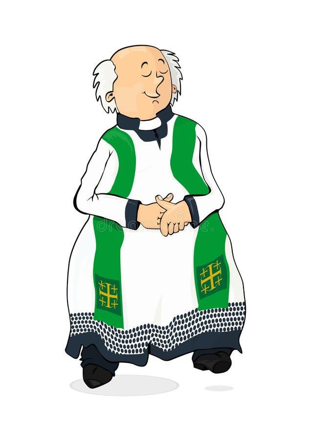 Katholieke priester stock illustratie