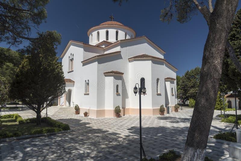 Katholiki Ekklisia玛丽亚Kremasti罗得岛 库存图片