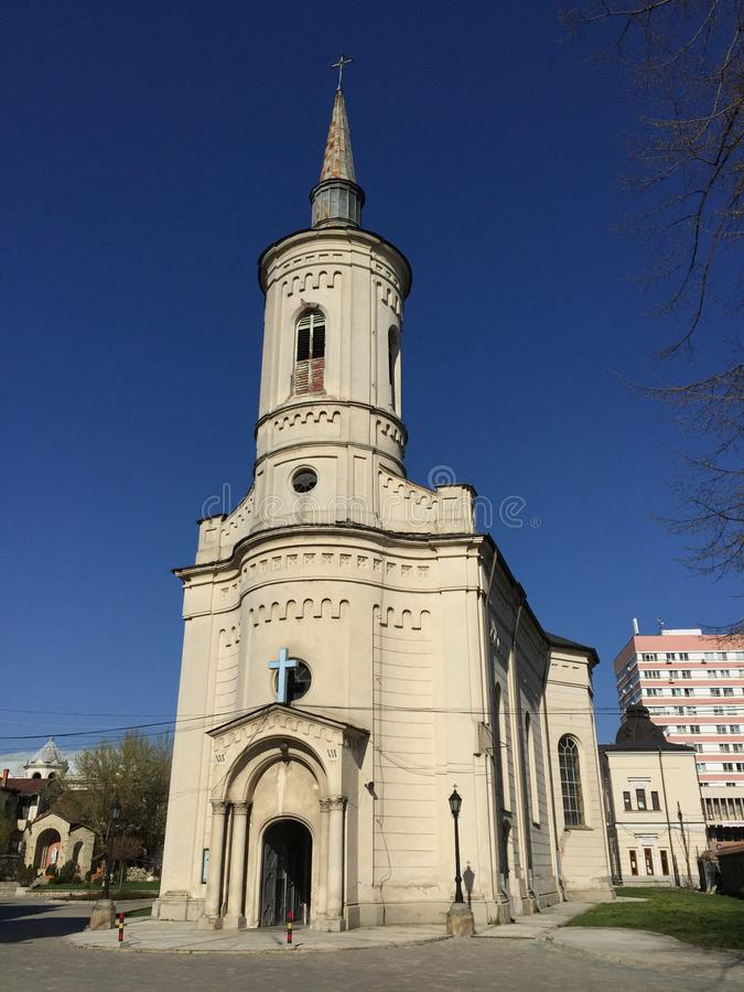 Katholische Kathedrale in Iasi (Rumänien) lizenzfreies stockbild