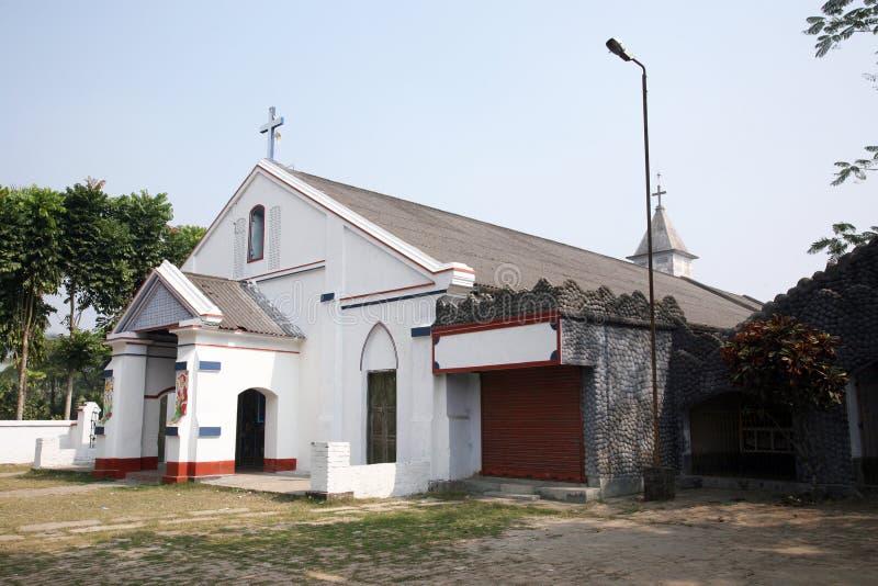 Katholische Kirche in Basanti, Indien lizenzfreies stockfoto