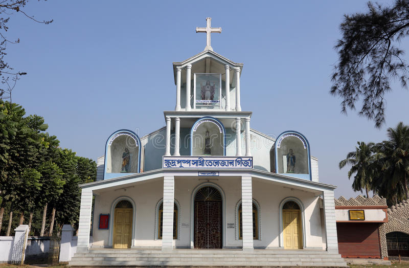 Katholische Kirche in Basanti, Westbengal, Indien lizenzfreie stockbilder