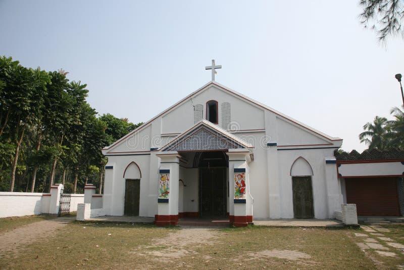Katholische Kirche in Basanti, Westbengal, Indien stockfotos