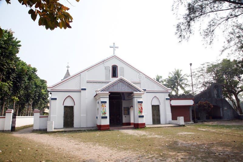 Katholische Kirche in Basanti, Westbengal, Indien lizenzfreie stockfotografie