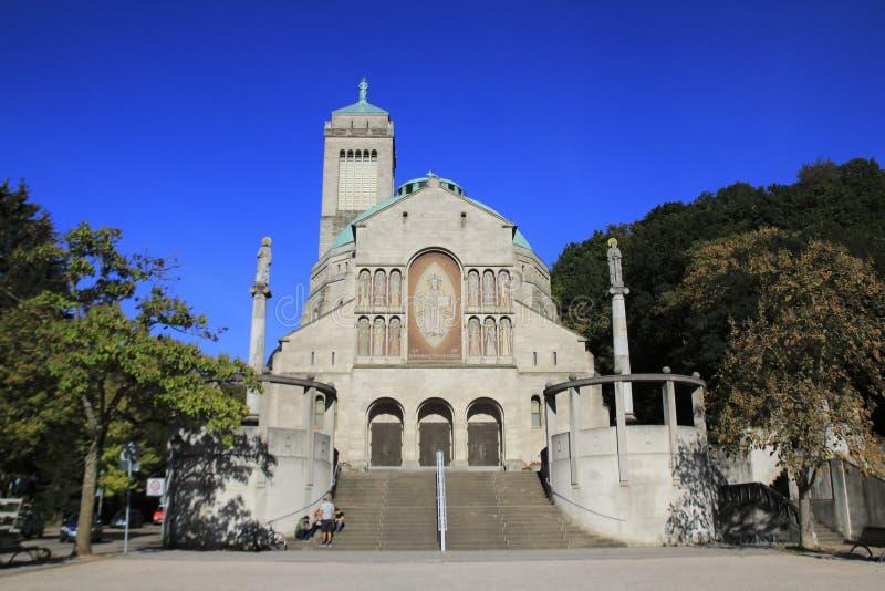 Katholische Kirche Bernhardiner, St. Bernard Church in Baden-Baden, Bezirk Weststadt lizenzfreie stockfotografie