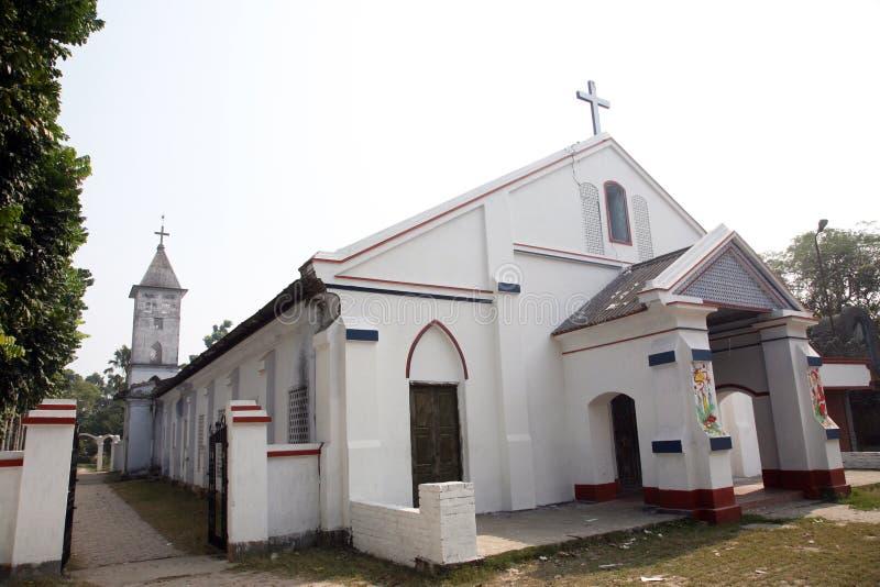 Katholische Kirche in Bosonti, Westbengalen, Indien lizenzfreie stockbilder