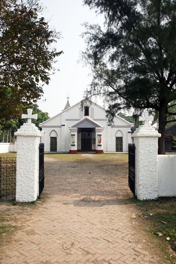 Katholische Kirche in Bosonti, Westbengalen, Indien lizenzfreie stockfotos