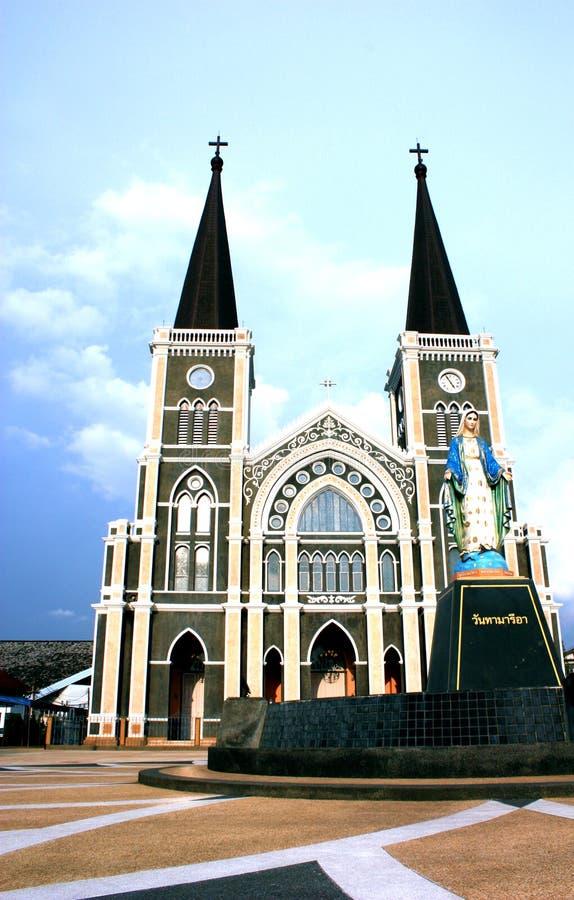 Katholische Kirche, chantaburi, Thailand lizenzfreies stockbild