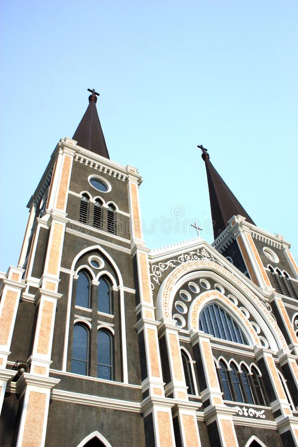 Katholische Kirche, chantaburi, Thailand lizenzfreie stockfotografie