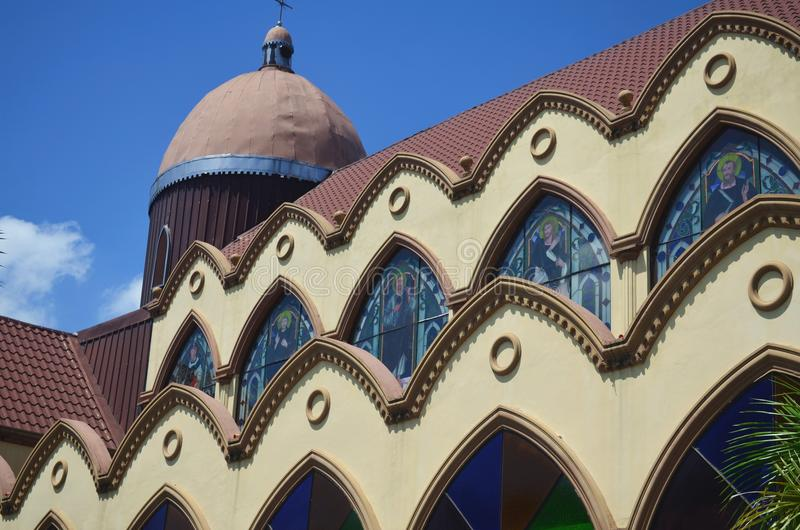 Katholische Kirche in Clark, nah an Angeles-Stadt, Philippinen lizenzfreie stockfotos