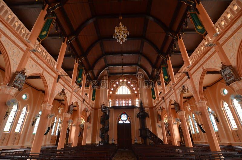 Katholische Kirche des hohen Alters in Thailand stockfotos