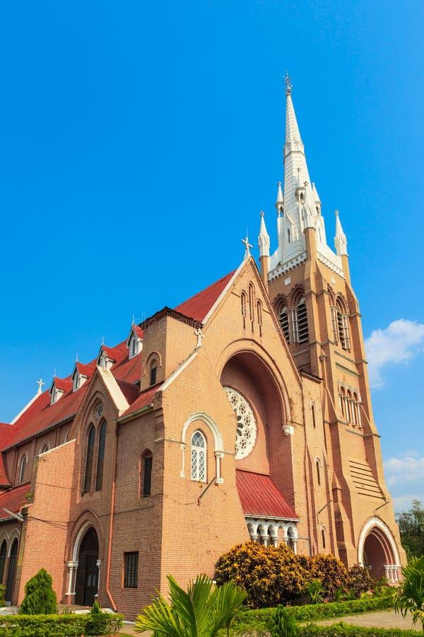 Katholische Kirche in Rangun, Myanmar stockbilder