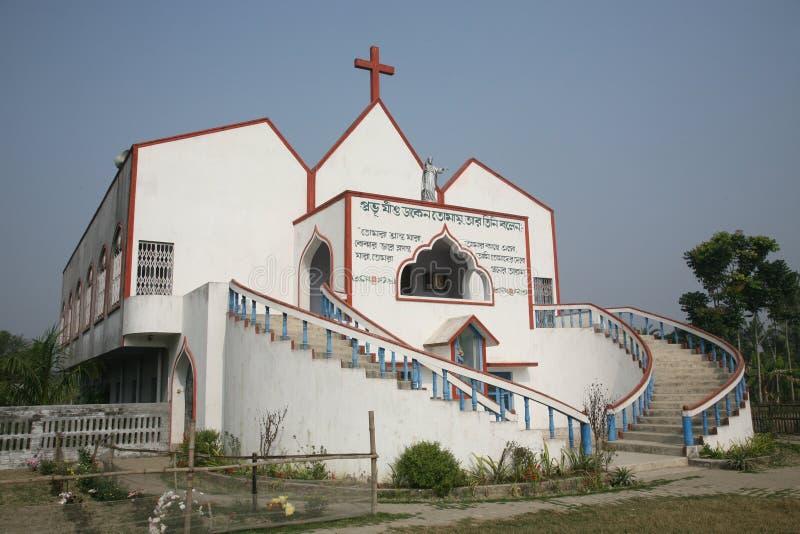 Katholische Kirche in Ranigarh, Westbengalen, Indien stockbilder