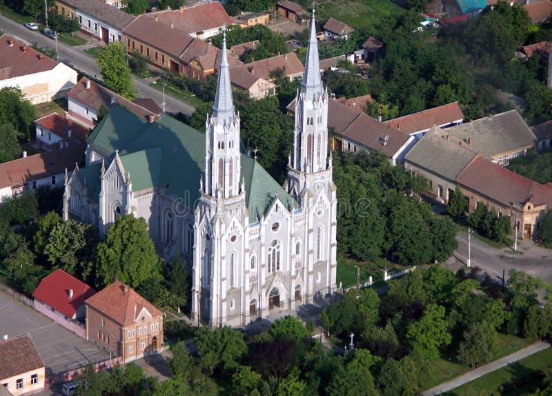 Katholische Kirche in Rumänien stockbilder