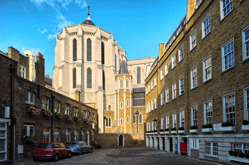 Katholische Kirche Str.-James, spanischer Platz, London stockfoto