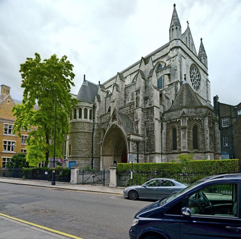 Katholische Kirche Str.-James, spanischer Platz, London lizenzfreies stockbild
