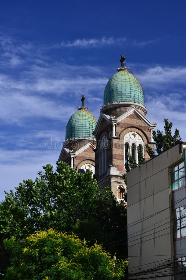 Katholische Kirche in Tianjin lizenzfreie stockfotos
