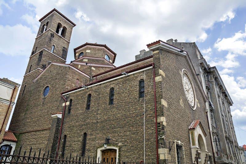 Katholische Kirche von St Anthony von Padua, Constanta, Rumänien stockfotos