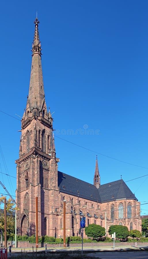 Katholische Kirche von St. Bernard in Karlsruhe, Deutschland stockfotos