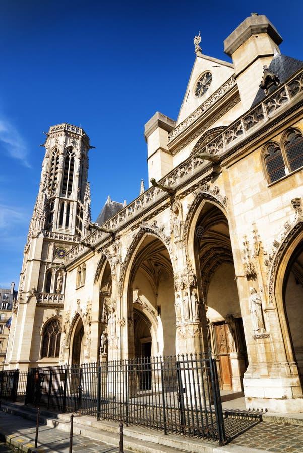 Katholische Kirche von St Germain von Auxerre in Paris, Frankreich stockfotografie