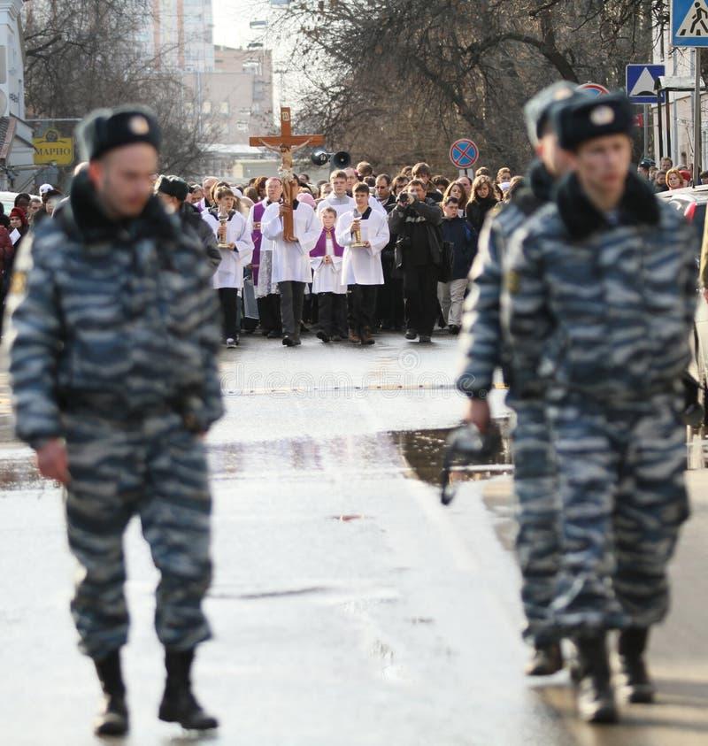 Katholische in Moskau stockfotografie