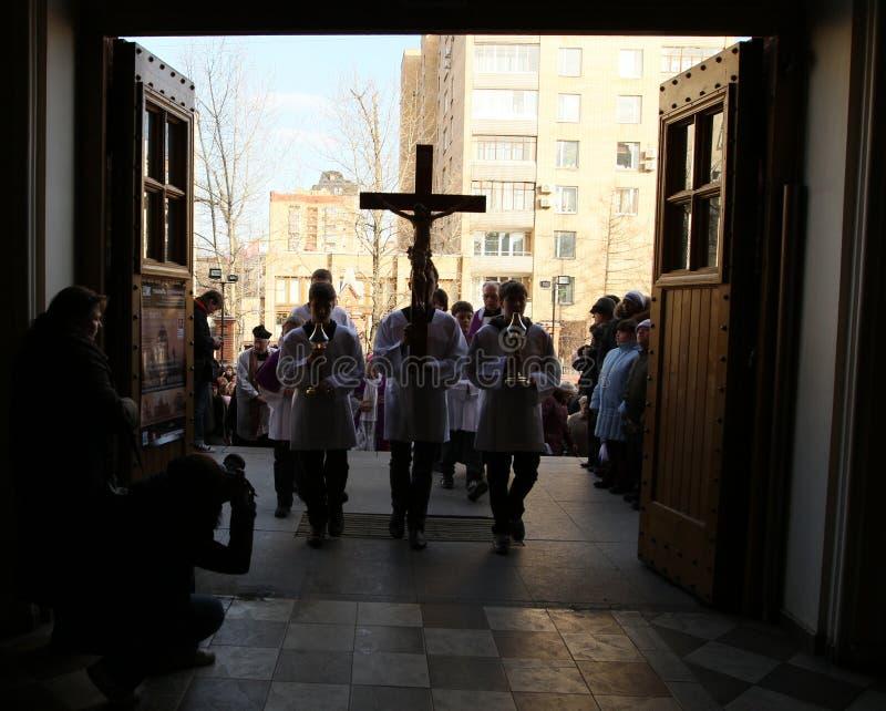 Katholische in Russland lizenzfreies stockbild