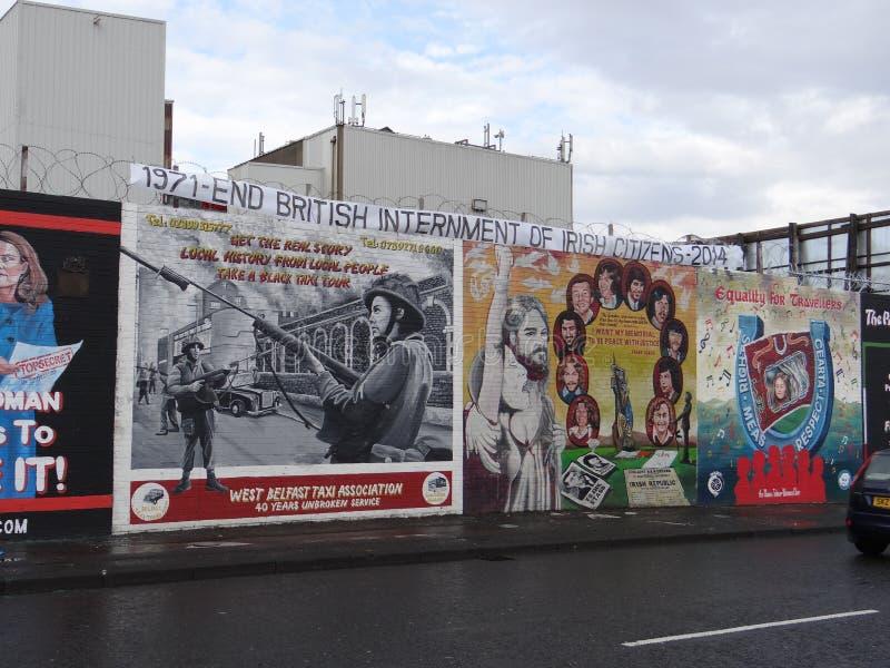 Katholische Wand in Belfast lizenzfreie stockfotos
