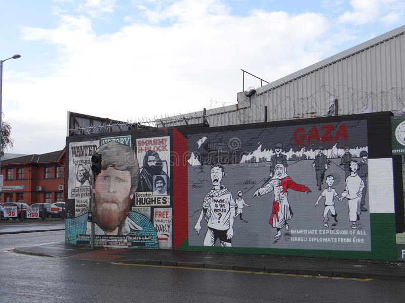 Katholische Wand in Belfast lizenzfreie stockfotografie