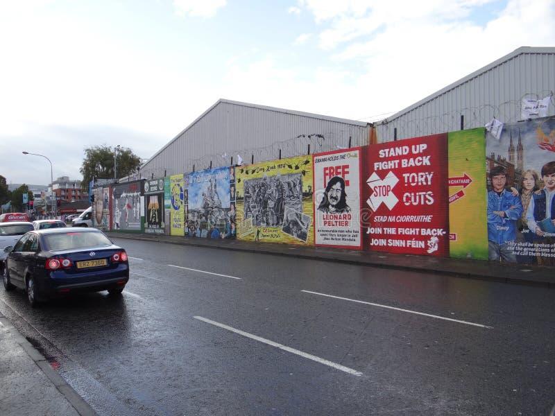 Katholische Wand in Belfast lizenzfreie stockbilder