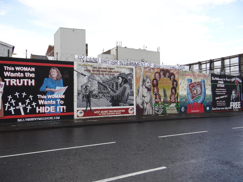 Katholische Wand in Belfast stockfoto