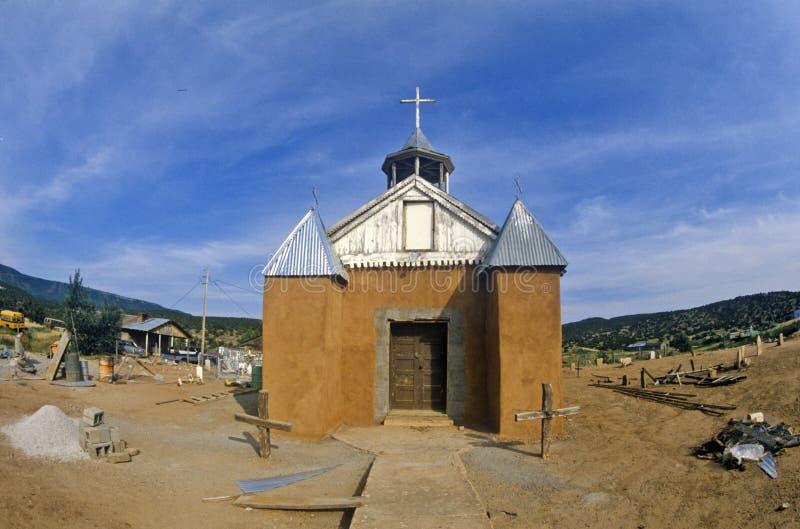Katholischer Auftrag im New Mexiko stockfotos