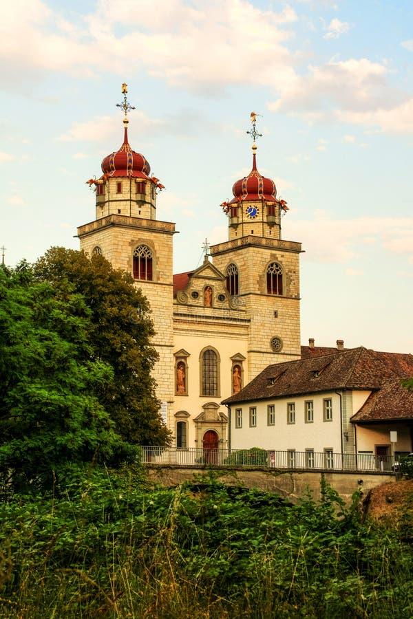 Katholisches Kloster, Rheinau, die Schweiz stockfoto