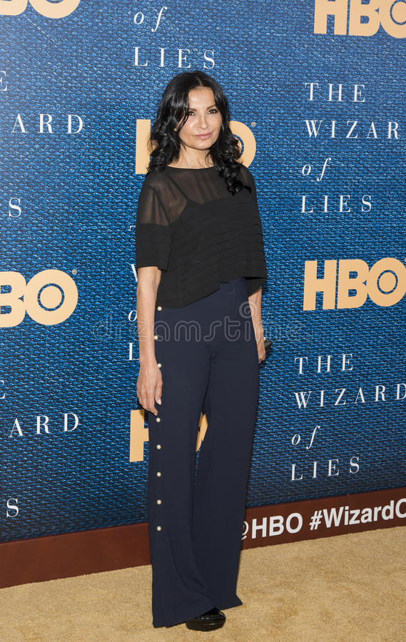 Kathrine Narducci. Actress Kathrine Narducci arrives for the New York City premiere of `The Wizard of Lies,` at the Museum of Modern Art MOMA on May 11 royalty free stock image