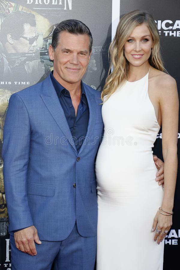 Kathryn Boyd and Josh Brolin. At the Los Angeles premiere of `Sicario: Day Of The Soldado` held at the Regency Village Theatre in Westwood, USA on June 26, 2018 stock image