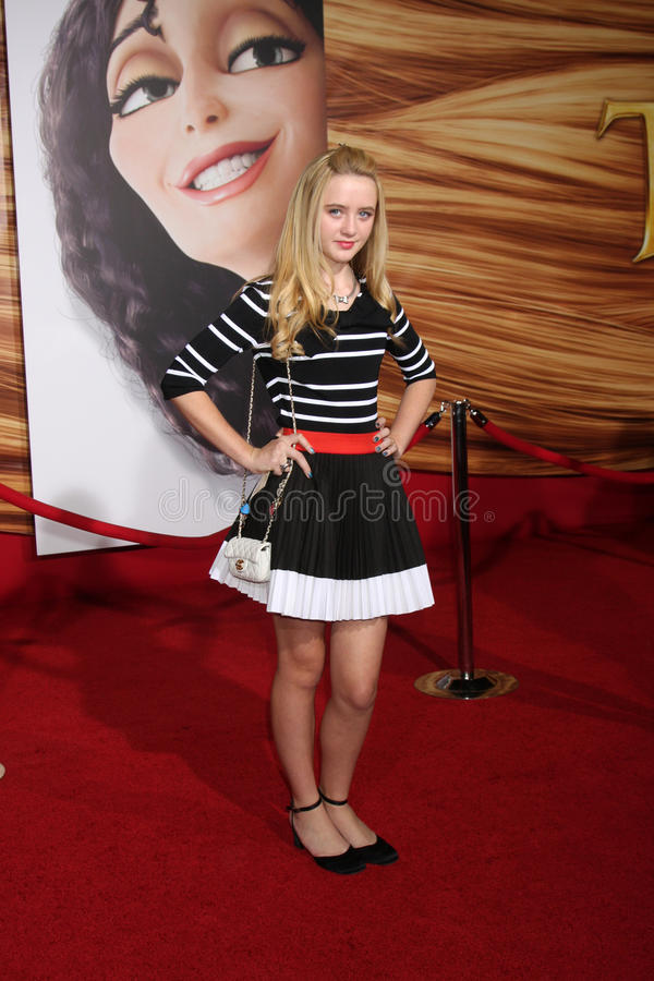 Kathryn Newton. LOS ANGELES - NOV 14: Kathryn Newton arrives at the Tangled World Premiere at El Capitan Theater on November 14, 2010 in Los Angeles, CA stock image