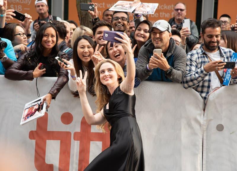 Kathryn Newton al prima di Ben è indietro nel festival cinematografico dell'internazionale di Toronto fotografia stock libera da diritti