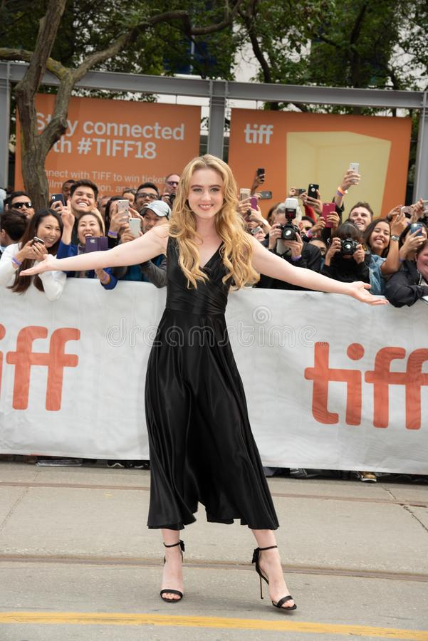 Kathryn Newton en la premier de Ben está detrás en festival de cine del International de Toronto fotos de archivo libres de regalías