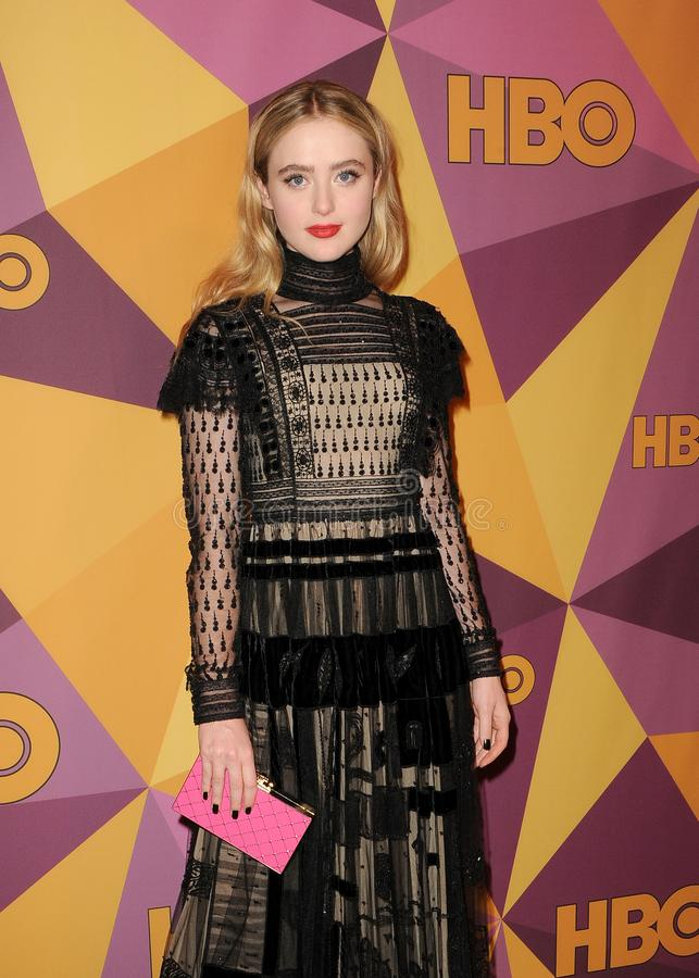 Kathryn Newton. At the HBO`s 2018 Official Golden Globe Awards After Party held at the Circa 55 Restaurant in Beverly Hills, USA on January 7, 2018 stock images