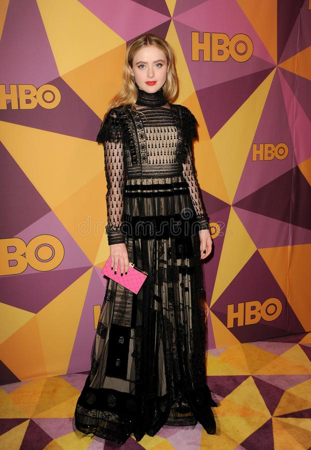 Kathryn Newton. At the HBO`s 2018 Official Golden Globe Awards After Party held at the Circa 55 Restaurant in Beverly Hills, USA on January 7, 2018 stock photos