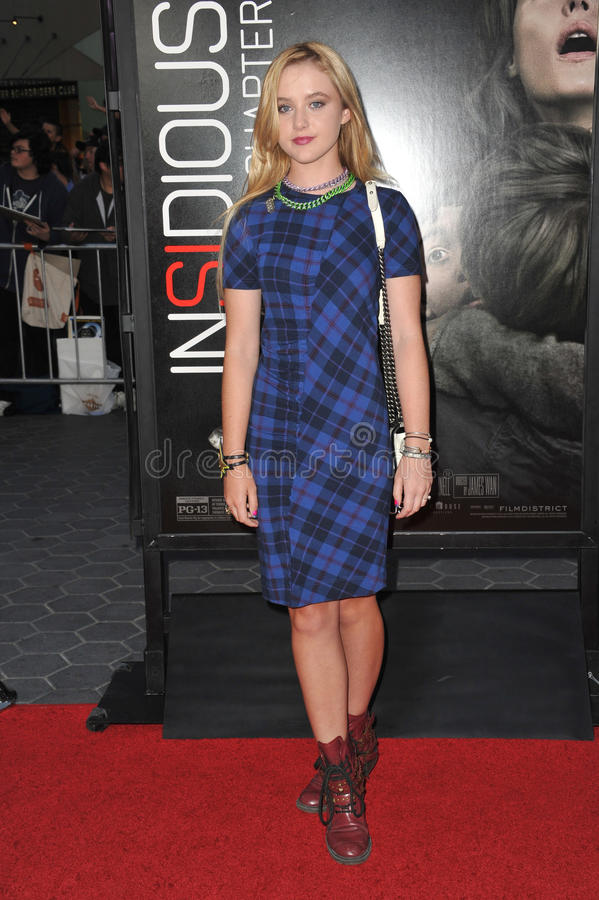 Kathryn Newton. LOS ANGELES, CA - SEPTEMBER 10, 2013: Kathryn Newton at the world premiere of Insidious Chapter 2 at Universal Citywalk, Hollywood stock image