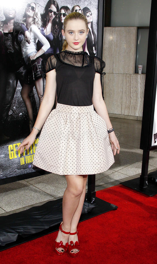 Kathryn Newton. At the Los Angeles premiere of 'Pitch Perfect' held at the ArcLight Cinemas in Hollywood, USA on September 24, 2012 royalty free stock photo