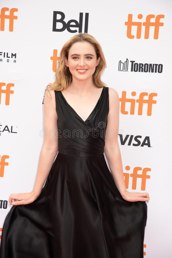 Kathryn Newton at premiere of Ben Is Back at tiff2018. Actress Kathryn Newton at premiere of Ben Is Back at tiff2018 Toronto international film festival is stock photography