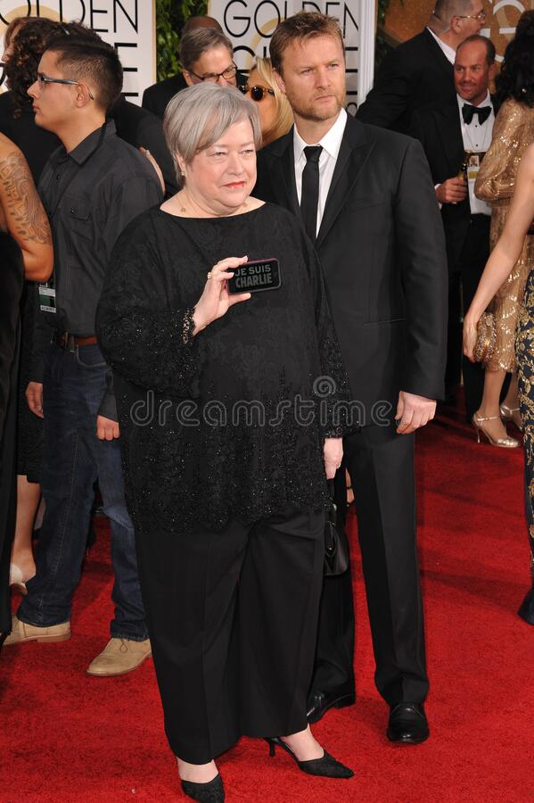 Kathy Bates. LOS ANGELES, CA - JANUARY 11, 2015: Kathy Bates at the 72nd Annual Golden Globe Awards at the Beverly Hilton Hotel, Beverly Hills royalty free stock photography