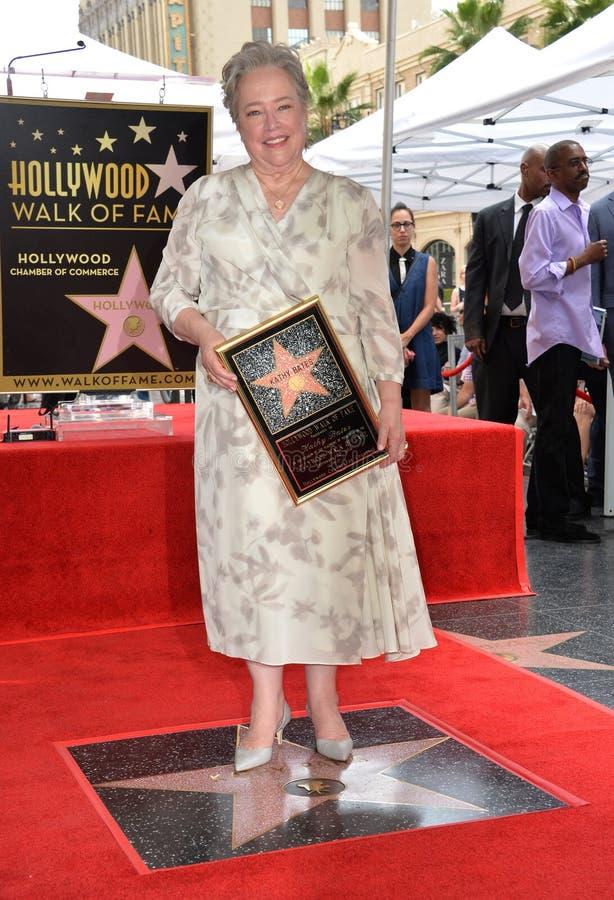 Kathy Bates. LOS ANGELES, CA. September 20, 2016: Kathy Bates at the Hollywood Walk of Fame star ceremony honoring actress Kathy Bates royalty free stock photography