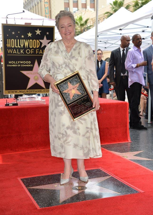 Kathy Bates. LOS ANGELES, CA. September 20, 2016: Kathy Bates at the Hollywood Walk of Fame star ceremony honoring actress Kathy Bates royalty free stock image