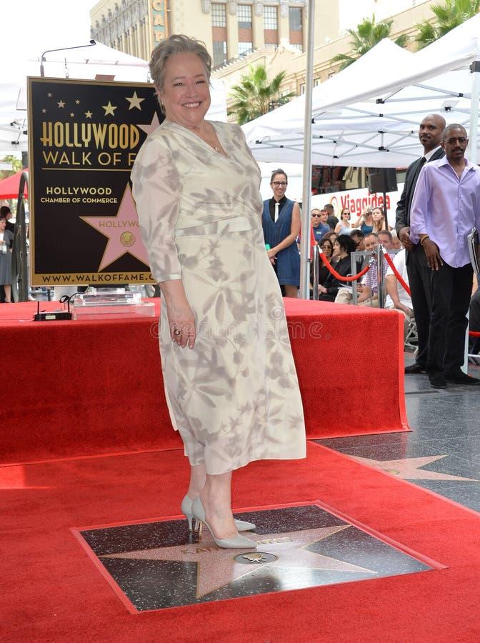 Kathy Bates. LOS ANGELES, CA. September 20, 2016: Kathy Bates at the Hollywood Walk of Fame star ceremony honoring actress Kathy Bates stock images